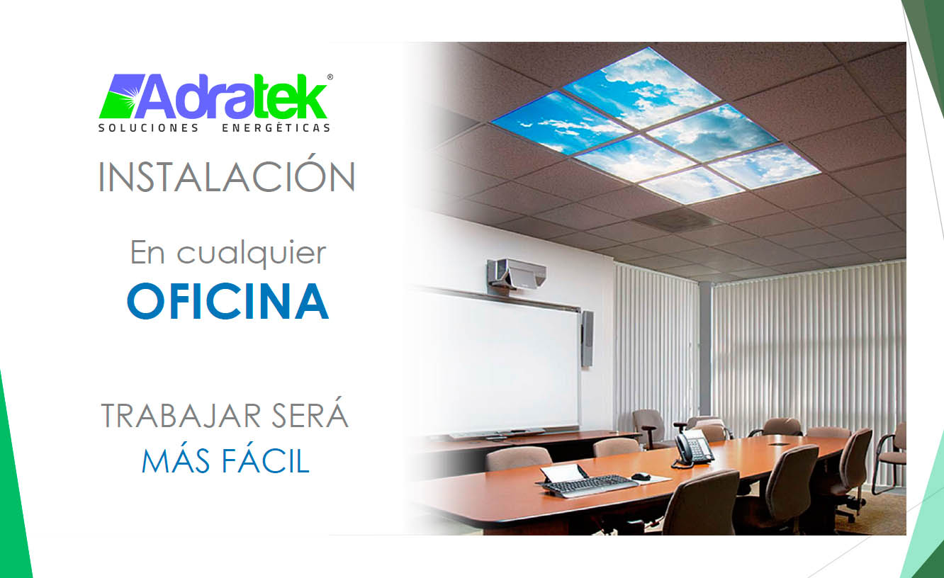 panel led decorativo oficina